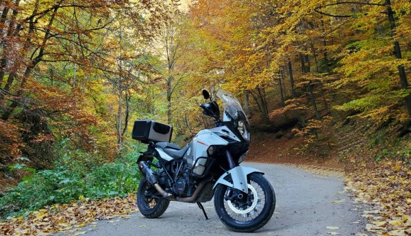 Ktm 1290 in the nature